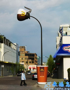 非常有创意的麦当劳广告牌