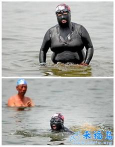 大妈暴强泳衣,所有其它的泳衣都弱爆了……