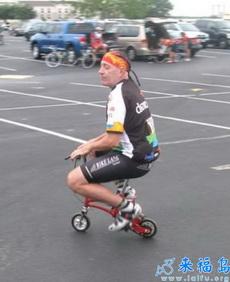 好袖珍的自行车!