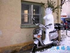 超级猥琐的雪人