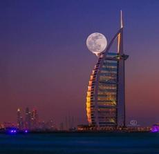 Super luna a Dubai