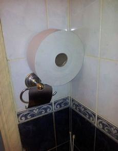 再也不怕厕纸不够用了
