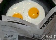 鸡蛋看报纸,眼神亮了