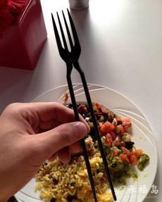 叉子筷子二合一