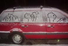 美国大雪,人们好开森……