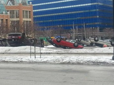 一下雪大家的停车技术都厉害了不少呢