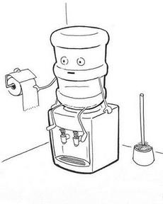再也无法喝饮水机的水了