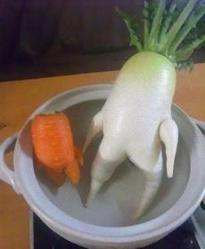 胡萝卜红萝卜两兄弟终于聚在一起了