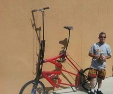 这自行车不是一般人能驾驭的