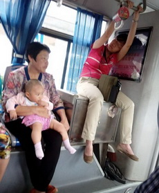 公交车上遇到的奇葩姐