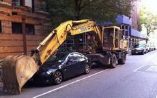 这么着就不担心车被拖走了