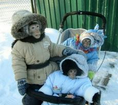 天气不错带孩子出去走走