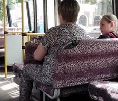 这世道坐个公交也撞衫