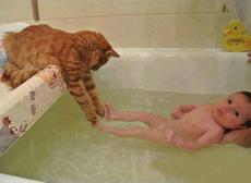 来嘛小主人,我来帮你洗脚脚!!