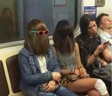 今天坐地铁吓我一跳