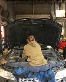没点真功夫还真是修不了车