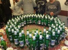 啤酒是送的,随便喝