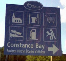 constance bay sign