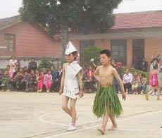 desfile en escuela