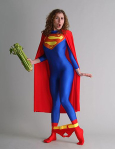 女超人的内裤掉了!
