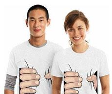 这样的T恤穿在身上特显瘦,有木有!!!