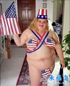 美国女人是这样庆祝国庆的