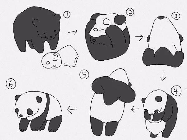 灰熊如何变熊猫